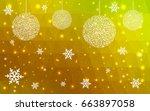 light green yellow vector... | Shutterstock .eps vector #663897058