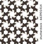 abstract geometric seamless... | Shutterstock . vector #663901414