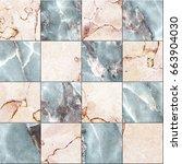 marble tiles seamless texture ...   Shutterstock . vector #663904030