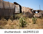 an old abandoned and rusting... | Shutterstock . vector #663905110
