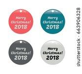 merry christmas banner set | Shutterstock .eps vector #663906328