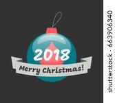 merry christmas banner | Shutterstock .eps vector #663906340