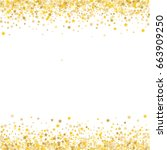 gold stars on a white... | Shutterstock .eps vector #663909250