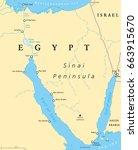 egypt  sinai peninsula... | Shutterstock .eps vector #663915670