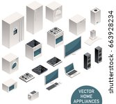 Isometric Home Appliances.
