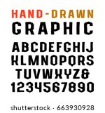 sanserif font in the style of... | Shutterstock .eps vector #663930928