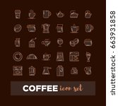 coffee icon set | Shutterstock .eps vector #663931858