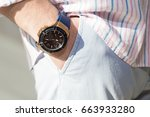 fashion image of luxury watch... | Shutterstock . vector #663933280