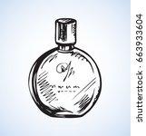 romantic stylish round odour... | Shutterstock .eps vector #663933604