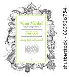 vegetable hand drawn vintage... | Shutterstock .eps vector #663936754