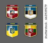 vector flags and coats of arms... | Shutterstock .eps vector #663939079