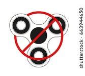 hand spinner isolated on white... | Shutterstock .eps vector #663944650