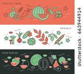 digital green black red... | Shutterstock .eps vector #663944914