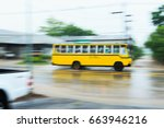 Blurred School Bus  Running On...