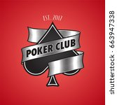casino  poker club vector logo  ... | Shutterstock .eps vector #663947338