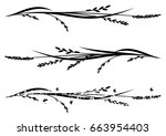 set of vector dividers with... | Shutterstock .eps vector #663954403