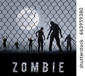 Zombie Walking At Night....