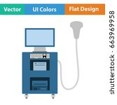 ultrasound diagnostic machine... | Shutterstock .eps vector #663969958