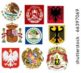 vector set of coats of arms of... | Shutterstock .eps vector #66397069