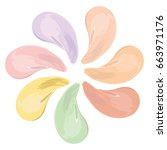 liquid makeup color correcting... | Shutterstock .eps vector #663971176