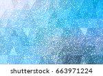 light blue vector christmas... | Shutterstock .eps vector #663971224
