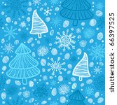 christmas seamless pattern   Shutterstock .eps vector #66397525