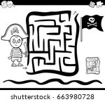 black and white cartoon vector... | Shutterstock .eps vector #663980728