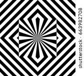seamless tile with black white... | Shutterstock .eps vector #663982708