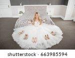 bride shoes | Shutterstock . vector #663985594