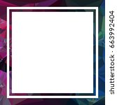 square mosaic frame for text ... | Shutterstock .eps vector #663992404