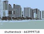 urban colorful art   city ... | Shutterstock . vector #663999718