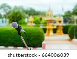 microphone for work | Shutterstock . vector #664006039