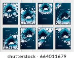 stock set collection vector... | Shutterstock .eps vector #664011679