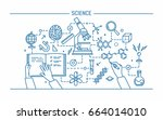 science word and technology... | Shutterstock . vector #664014010