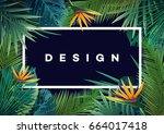 bright tropical background with ... | Shutterstock .eps vector #664017418