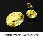 yellow sapphire on black... | Shutterstock . vector #664021990