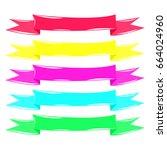 set ribbon | Shutterstock .eps vector #664024960
