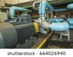 several water pumps with large... | Shutterstock . vector #664026940