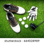 Ball  Shoe  Glove  Tee And Golf ...