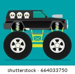 off road car isolated on color... | Shutterstock .eps vector #664033750