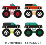 off road car isolated on ... | Shutterstock .eps vector #664033774