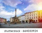 historical sights of olomouc in ... | Shutterstock . vector #664033924