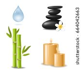 spa and beauty realistic 3d... | Shutterstock .eps vector #664042663