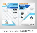 vector brochure flyer design... | Shutterstock .eps vector #664042810