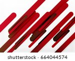 cut 3d paper color straight... | Shutterstock .eps vector #664044574