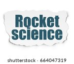 science concept  painted blue... | Shutterstock . vector #664047319