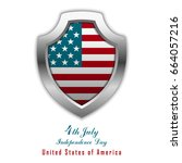 4th of july. united states... | Shutterstock .eps vector #664057216