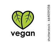 healthy vegan diet icon concept ... | Shutterstock .eps vector #664059358