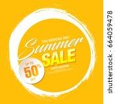 summer sale template banner ... | Shutterstock .eps vector #664059478