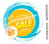 summer sale template banner ... | Shutterstock .eps vector #664059529